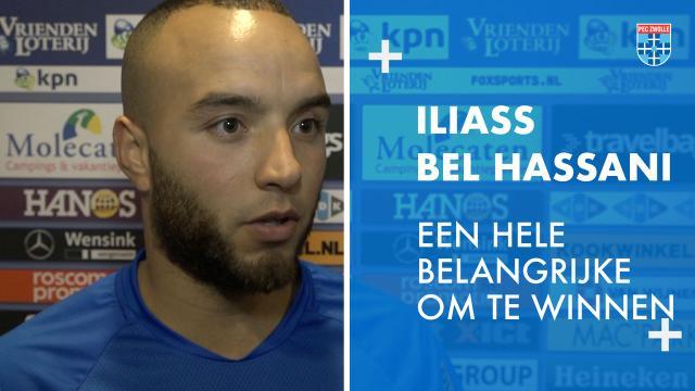 Iliass Bel Hassani: 'Een hele belangrijke wedstrijd om te winnen.'