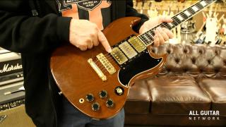Vintage Guitar Minute: 1974-75 Gibson Walnut 3 Pick-Up SG Custom