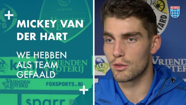 Mickey van der Hart: 'We hebben als team gefaald.'