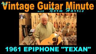 VINTAGE GUITAR MINUTE: 1961 Epiphone 'Texan'