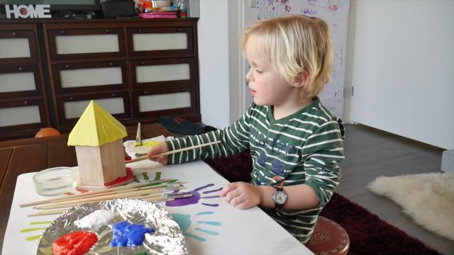 DIY VOGELHUiSJE MAKEN ( verven) | LUAN BELLINGA VLOG #17