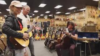 Richie Sambora and Orianthi visit Norman's Rare Guitars.