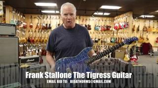 "Joe Bonamassa & Frank Stallone signed Frank Stallone ""The Tigress"" Guitar to help The Midnight Mission"