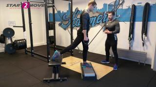 Bulgarian split squat met verhoging – half gevorderd