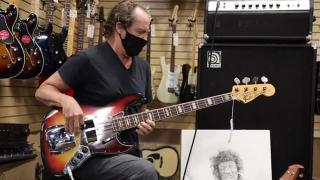 Jimmy Earl playing a 1969 Fender Jazz Bass at Norman's Rare Guitars
