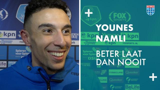 Younes Namli: ''Beter laat dan nooit.''