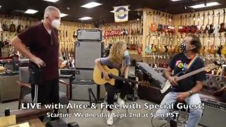 LIVE show Inside with Alice & Freebo coming this Wednesday at Norman's Rare Guitars