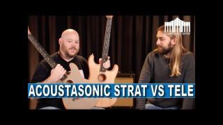 Fender Acoustasonic Stratocaster vs Acoustasonic Telecaster, the best comparison on the internet!