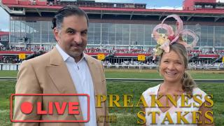 Louisa Barton LIVE at The Preakness Stakes with Medina Spirit Owner Amr Zedan and Breeder Gail Rice