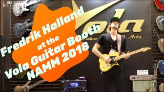 A blast from the not too distant Past: Fredrik Halland at Vola Guitars booth NAMM 2018
