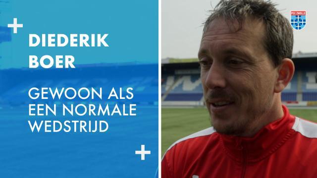 Diederik Boer: 'Gewoon als een normale wedstrijd'