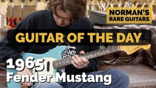Norman's Rare Guitars  |  Guitar of the Day  |  1965 Fender Mustang Daphne Blue