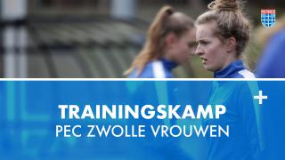 PEC Zwolle Vrouwen op trainingskamp in Zeist