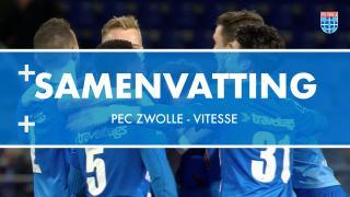 Samenvatting PEC Zwolle - Vitesse