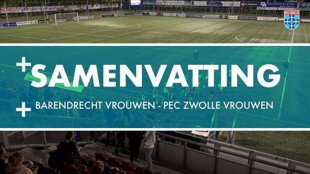 Samenvatting Excelsior Barendrecht Vrouwen - PEC Zwolle Vrouwen