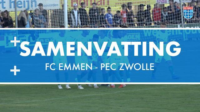 Samenvatting FC Emmen - PEC Zwolle