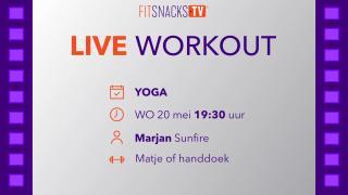 LIVE | Yoga met Marjan Sunfire