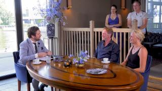 Ondernemerslounge (RTL7) | 1.5.03 | Herwie Cornelissen en Linsey Amman