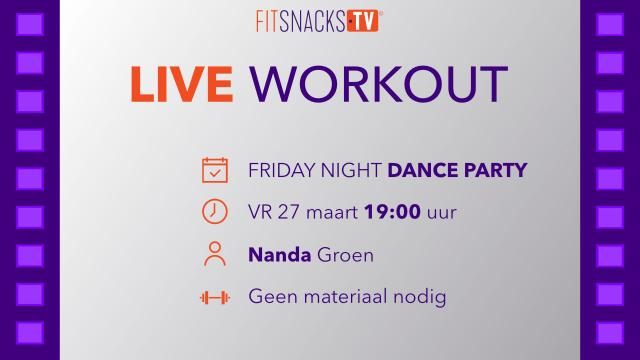 LIVE - Friday Night Dance Party met Nanda Groen (27/3/20)