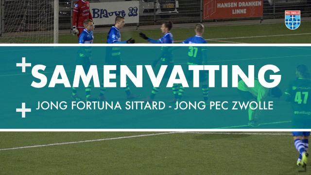 Samenvatting Jong Fortuna Sittard - Jong PEC Zwolle