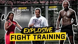 Explosive and powerful fight training with Hesdy Gerges & Denise Kielholtz