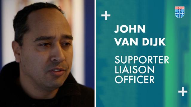 John van Dijk, de Supporter Liaison Officer