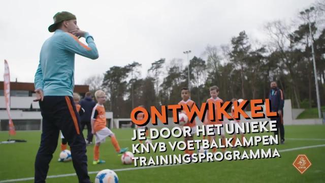 Train als Oranje bij de KNVB Voetbalkampen!