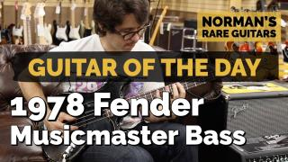 Guitar of the Day: 1978 Fender Musicmaster Bass | Norman's Rare Guitars