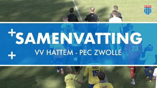 Samenvatting VV Hattem - PEC Zwolle