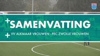 Samenvatting VV Alkmaar - PEC Zwolle Vrouwen
