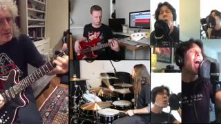 Hammer to Fall with Brian May - isolation jam - full band