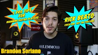 AGn Youtube Picks: 5 PRO Tips for BEGINNING Guitarists from RICK BEATO