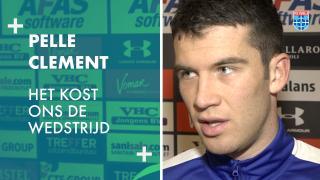 Pelle Clement: 'Het kost ons de wedstrijd.'