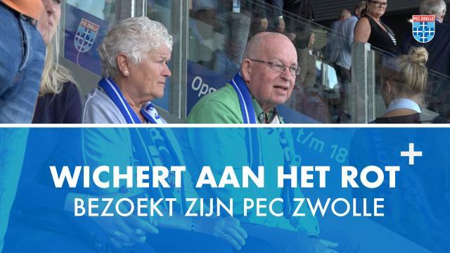Supporter Wichert aan het Rot bezoekt zijn PEC Zwolle