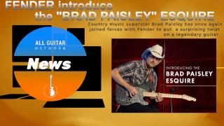 Update: Tuesday, November 17, 2020: THE BRAD PAISLEY ESQUIRE: Country music superstar Brad Paisley has once again joined forces with Fender to put a surprising twist on a legendary guitar.