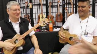 NAMM 2020 Interviews: RJ Kaneao & Larry Seyer @ HUG Ukulele & Guitar booth.mp4