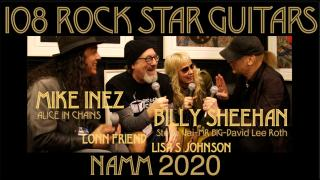 108 ROCK STAR GUITARS AT NAMM 2020: Mike Inez and Billy Sheehan