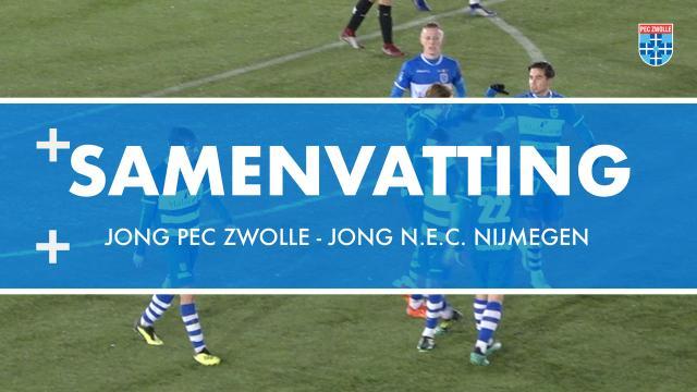 Samenvatting Jong PEC Zwolle - Jong N.E.C. Nijmegen