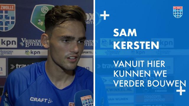 Sam Kersten: 'Vanuit hier kunnen we verder bouwen.'
