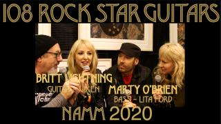 Britt Lightning from VIXEN and Marty O'Brien from the LITA FORD BAND
