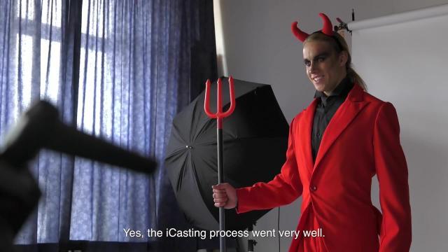 Halloween shoot behind the scenes talent Shane
