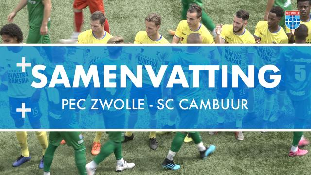 Samenvatting PEC Zwolle - SC Cambuur