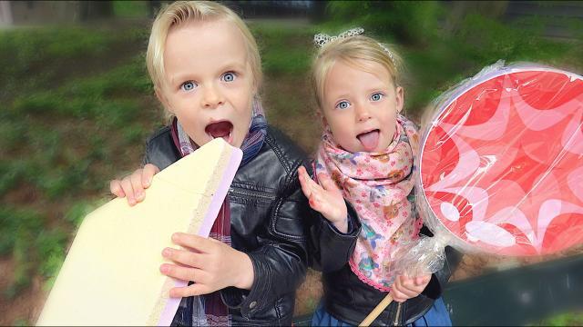 GRUWELIJK LEKKER VOOR KiNDEREN  ( suikerwerkplaats) | Bellinga Familie Vloggers #1367