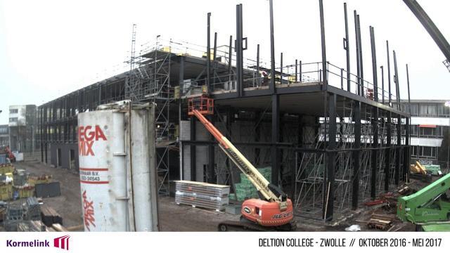 Timelapse bouw 'gebouw grijs'