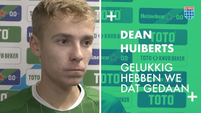Dean Huiberts: 'Gelukkig hebben we dat gedaan.'