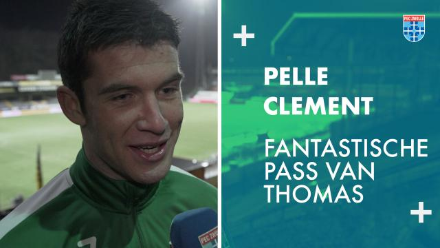 Pelle Clement: 'Fantastische pass van Thomas.