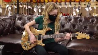 11-years-old Charlotte Milstein playing Van Halen