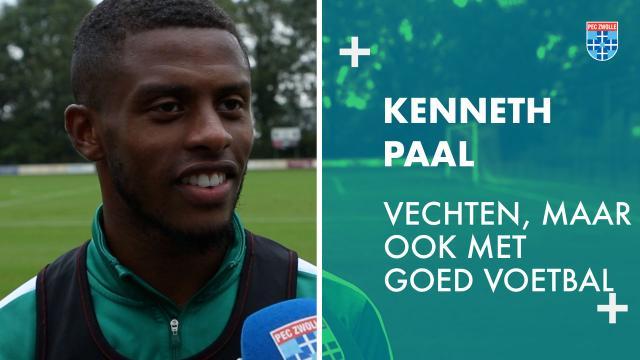 Kenneth Paal: 'Vechten, maar ook met goed voetbal.'
