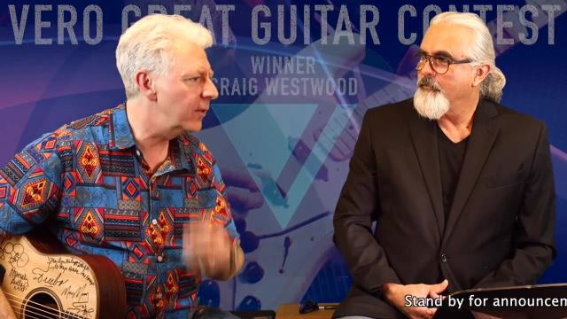 Vero Great Guitar Contest winner, Craig Westwood in LA