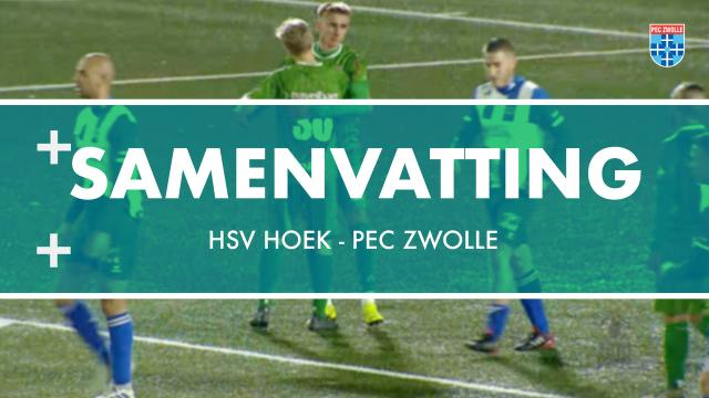Samenvatting HSV Hoek - PEC Zwolle